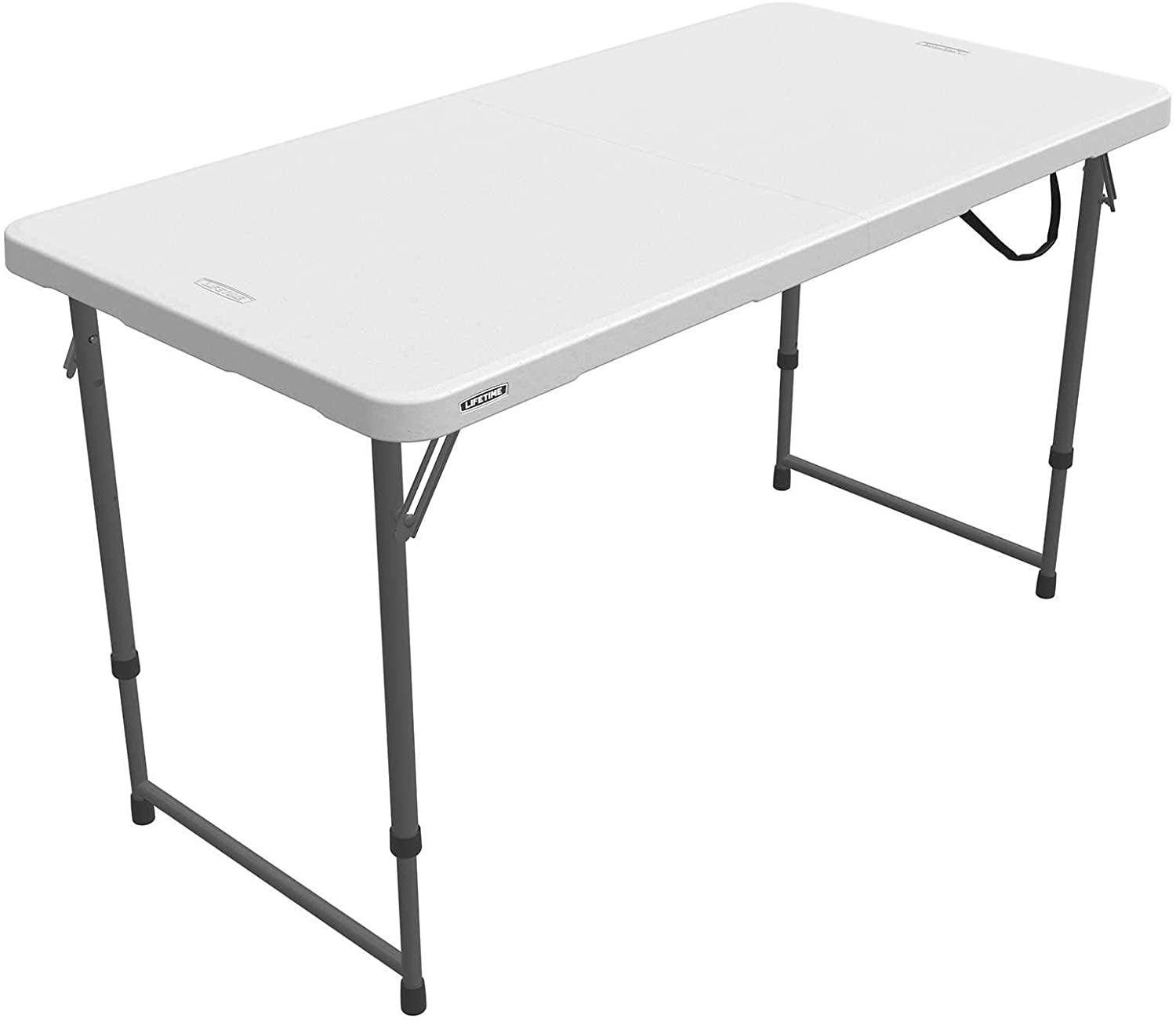 Lifetime Height Adjustable Craft Camping and Utility Folding Table